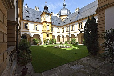 The State Office for the Preservation of Historical Monuments at Schloss Seehof castle and gardens, Memmelsdorf, Upper Franconia, Bavaria, Germany, Europe