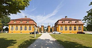 Schloss Seehof castle and gardens, Memmelsdorf, Upper Franconia, Bavaria, Germany, Europe