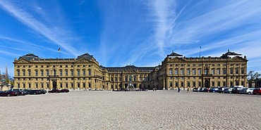 Wuerzburg Residenz, a Baroque palace, UNESCO World Heritage Site, Wuerzburg, Bavaria, Germany, Europe