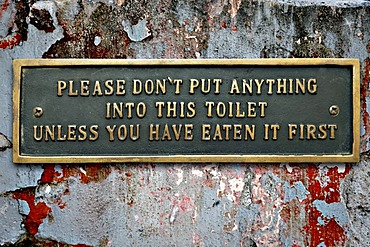 Funny toilet sign