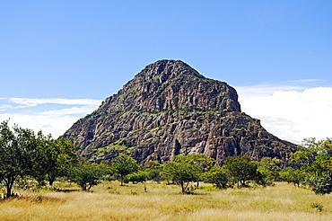 """Holy mountain """"Man"""", UNESCO World Heritage Tsodilo Hills, Botswana, Africa"""