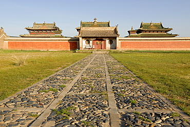 Temple in the inner complex of Erdene Zuu Khiid Monastery, Karakorum, Kharkhorin, Oevoerkhangai Aimak, Mongolia, Asia