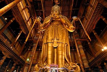 26 meter high statue of the goddess Janraisig or Avalokiteshvara, Gandan Monastery, Migjid Janraisig Sueme, Gandan Khiid, Ulaanbaatar, Mongolia, Asia