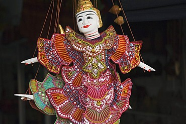 Puppet or marionette, souvenir, Old Market, Psar Chas, Siem Reap, Cambodia, Indochina, Southeast Asia, Asia