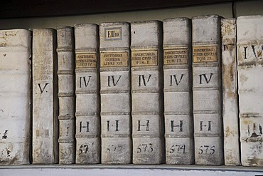 Very old books, library, Strahov Monastery, Hrad&any, Castle District, Prague, Czech Republic, Europe