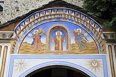 Entrance, Orthodox Rila Monastery, UNESCO World Heritage Site, Bulgaria, Europe