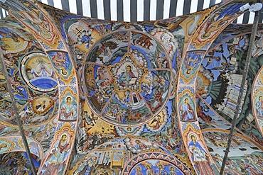 Ceiling painting, monastery church Sweta Bogorodiza, Orthodox Rila Monastery, UNESCO World Heritage Site, Bulgaria, Europe