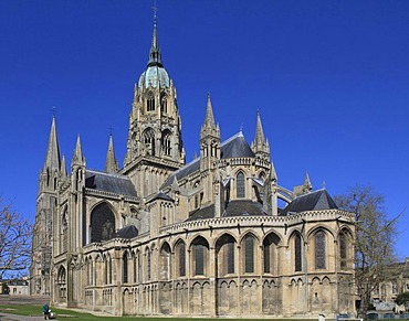Bayeux Cathedral, Notre-Dame, Bayeux, Calvados, Region Basse-Normandie, Normandy, France, Europe