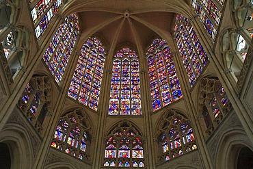 Choir, Saint Gatien's Cathedral, Tours, Departement Inde-et-Loire, Region Centre, France, Europe