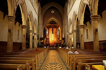 Interior of St. Peter's Cathedral in Adelaide, South Australia, Australia
