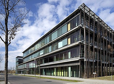 Lise-Meitner-Haus building, Institute of Physics, Humboldt-Universitaet university, Wissenschaftsstadt Adlershof Science City, Berlin, Germany, Europe