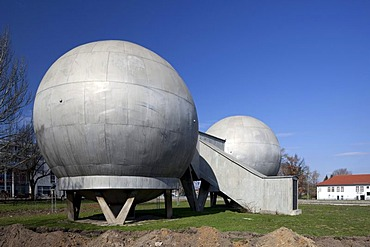 Thermally constant ball laboratories, technical monument, former airport Johannisthal, Wissenschaftsstadt Adlershof Science City, Berlin, Germany, Europe