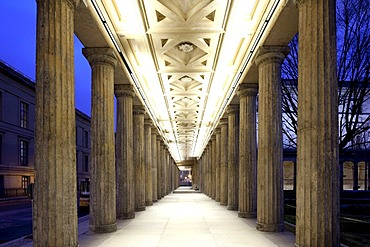 Colonnade of the Museumsinsel island, Mitte district, Berlin, Germany, Europe