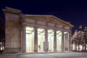 Neue Wache, Central Memorial of the Federal Republic of Germany for the Victims of War and Tyranny, Unter den Linden boulevard, Mitte district, Berlin, Germany, Europe