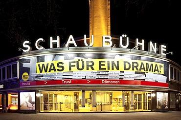 Schaubuehne theatre, Kurfuerstendamm street, Charlottenburg district, Berlin, Germany, Europe