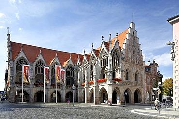 Old city hall on Altstadtmarkt square, Braunschweig, Lower Saxony, Germany, Europe