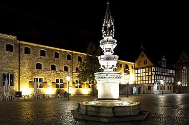 Marie Fountain on Altstadtmarkt square, Braunschweig, Lower Saxony, Germany, Europe