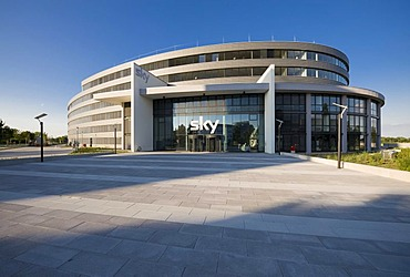 New headquarters of the Sky Deutschland AG, Medienallee 26, Unterfoehring, Bavaria, Germany, Europe