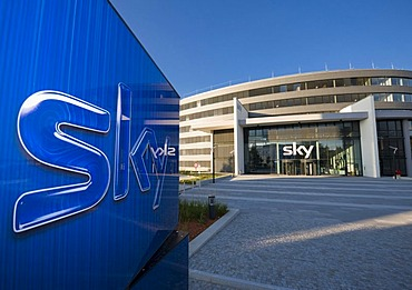 New headquarters of the Sky Deutschland AG, Medienallee 26, Unterfoehring, Bavaria, Germany, Europe
