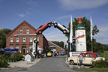 Car museum near the town of Norden, East Frisia, Lower Saxony, Germany, Europe