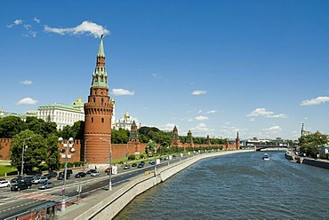 View on the Moscow Kremlin and Moskva river, Moscow, Russia
