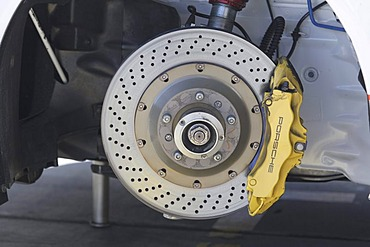 Brake disc of a Porsche racing car