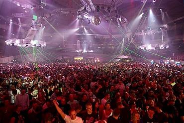 Techno festival Mayday 2010 in the Westfalenhalle concert hall, Dortmund, North Rhine-Westphalia, Germany, Europe