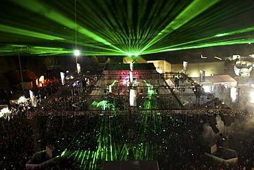 Techno festival Nature One 2010, Kastellaun, Rhineland-Palatinate, Germany, Europe