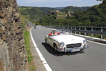 Vintage car rally ADAC Mittelrhein-Classic 2010, Mercedes 190SL, St Goar, Rhineland-Palatinate, Germany, Europe