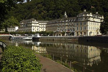Kurhotel and the Staatliche Kurhaus, spa hotel, Bad Ems, Rhineland-Palatinate, Germany, Europe
