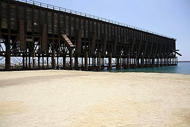 Historic ferry terminal for rail transport, Almeria, Andalucia, Southern Spain, Europa