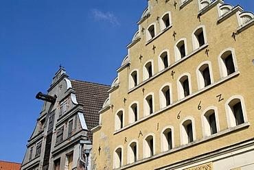 Historic building, Wismar, Mecklenburg-Western Pomerania, Germany, Europe