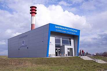 Jade Weser Port Info Center at the deep-water port of Wilhelmshaven, Lower Saxony, Germany, Europe