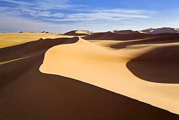 Sand dunes of the Libyan desert, Erg Murzuq, Libya, Sahara, North Africa, Africa