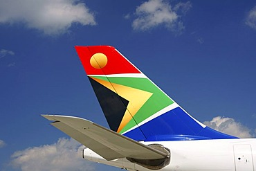 Airplane, tail unit, South African, SA, Airbus A 340