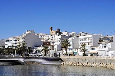 Church, promenade, Altea, Costa Blanca, Alicante province, Spain, Europe