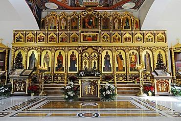 Icons, Russian-Orthodox church, Altea, Costa Blanca, Alicante province, Spain, Europe