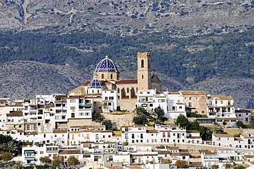Virgen del Consuelo, Iglesia de Nuestra Senora del Consuelo church, landmark, old town, Altea, Costa Blanca, Alicante province, Spain, Europe