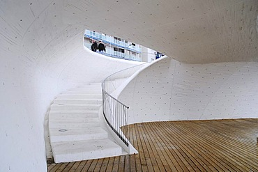 Moderne Architektur, Treppe, Durchgang, promenade, Benidorm, Costa Blanca, Provinz Alicante, Spanien, Europa