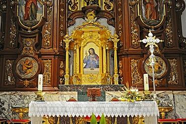 Altar, church of San Jaime, Benidorm, Costa Blanca, Provinz Alicante, Spanien, Europa