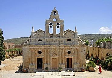 Monastery Church, Arkadi Monastery, Moni Arkadi, National Monument, Crete, Greece, Europe