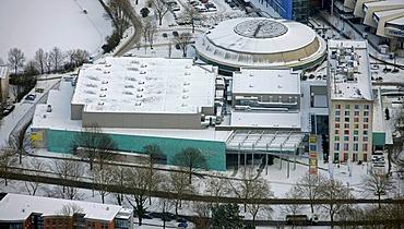 Aerial view, city hall, Bochum, Ruhrgebiet region, North Rhine-Westphalia, Germany, Europe