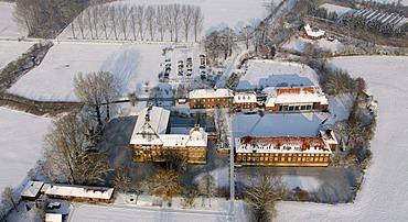 Aerial photo, Schloss Werries Castle, Hamm, Ruhr area, North Rhine-Westphalia, Germany, Europe