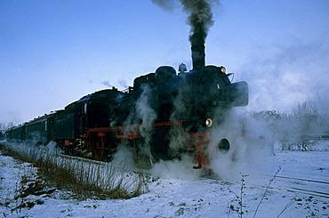 Steam train excursion near Warstein, North Rhine-Westphalia, Germany, Europe