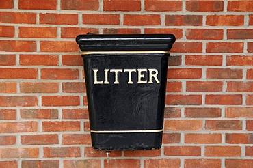 Litter bin, United Kingdom, Europe
