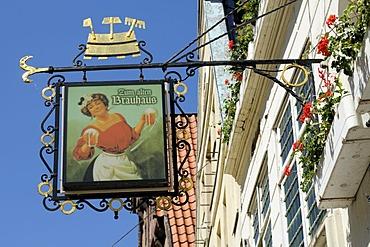 Inn sign, Lueneburg, Lower Saxony, Germany, Europe