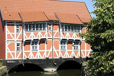 Half-timbered house called Gewoelbe, Wismar, Germany, Europe