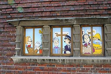 Comic strip, Schwerin, Mecklenburg-Western Pomerania, Germany, Europe