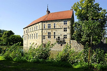 Burg Luedinghausen moated castle, Luedinghausen, North Rhine-Westfalia, Germany, Europe