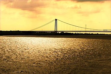 Bridge across the Rhine, Emmerich, North Rhine-Westfalia, Germany, Europe
